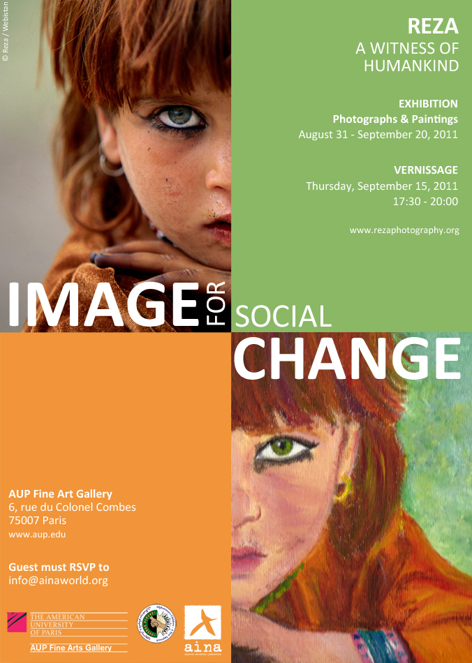 REZA: IMAGE FOR SOCIAL CHANGE exhibition